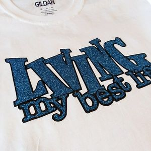 Tops - Living My Best Life Bridesmaids T Shirt Blue